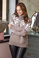 Свитер женский теплый свитер с горлом женский