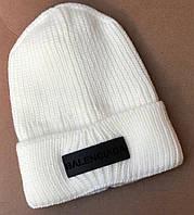 Женская зимняя теплая шапка вязка флис, фото 1