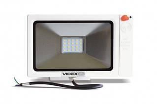 Прожектор светодиодный VIDEX Slim Sensor 20W 5000K 220V White (23574)