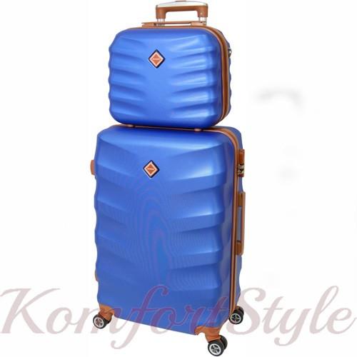 Комплект чемодан и кейс Bonro Next  маленький синий (10066701)