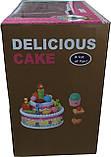 Большой празничный торт с аксессуарамы Le Ke Er Toys Delicious cake, фото 3