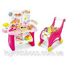 Детский игровой магазин с тележкой Jinxing Fun 2в1