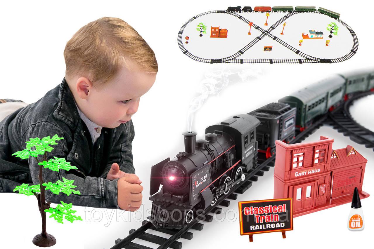 Большая железная дорога Biongi Rail King 7 м с парой