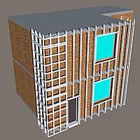 Самонесущая подсистема для фасада