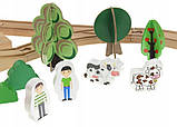 Деревянная железная дорога Xiaolinshushu 78 ел, фото 7