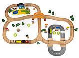 Деревянная железная дорога Tianqi Wooden Train Set 78 элементов, фото 2