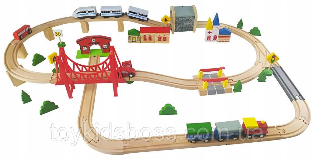 Деревянная железная дорога Kinderplay