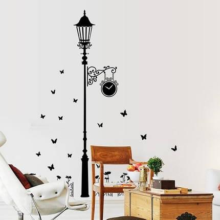 Интерьерная наклейка на стену Фонарь с бабочками AY9200, фото 2