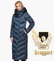 Воздуховик Braggart Angel's Fluff 31016 | Женская теплая куртка сапфировая Размеры 52 56