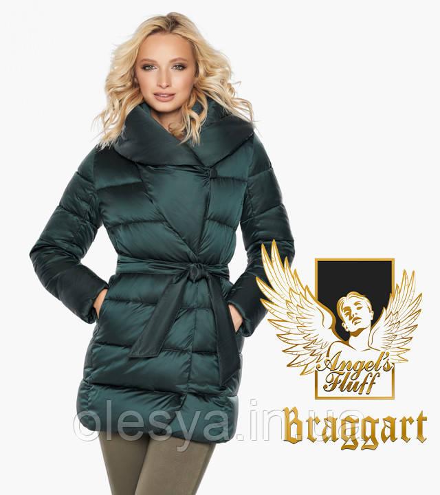 Воздуховик Braggart Angel's Fluff 31064   Женская зимняя куртка изумруд размеры 40- 54