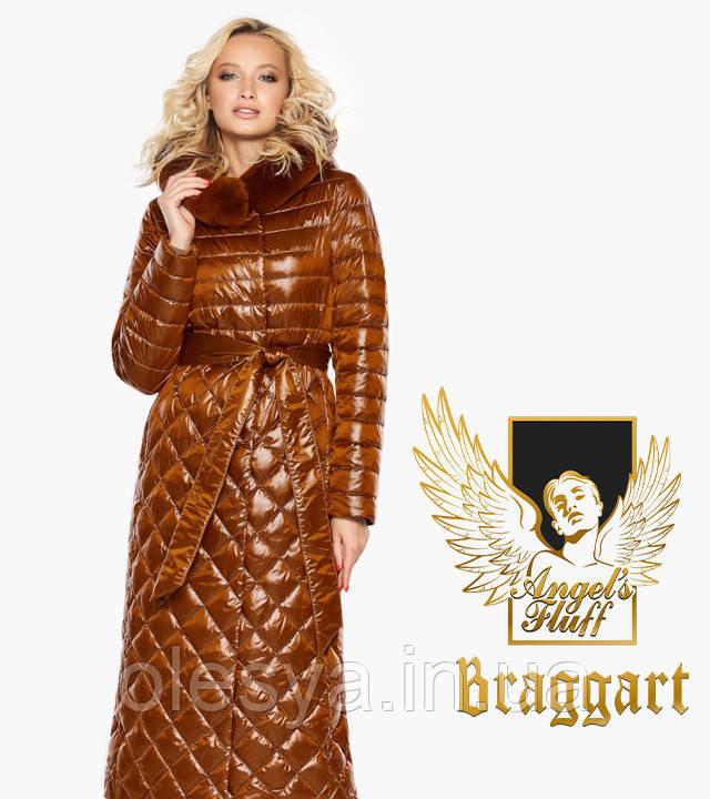Воздуховик Braggart Angel's Fluff 31012   Женская зимняя куртка сиена