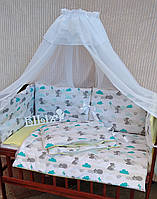 """Комплект постельного белья в кроватку """"Классик"""", набор постельного белья в кроватку, детское постельное белье, фото 1"""