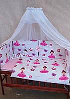 """Комплект постільної білизни в ліжечко """"Класик"""", набір постільної білизни в ліжечко, дитяче постільна білизна, фото 1"""