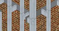 Однопролетная система крепления для фасада