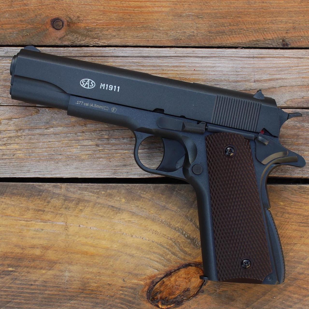 Пистолет пневматический SAS M1911 Pellet кал. 4.5 мм (металл)