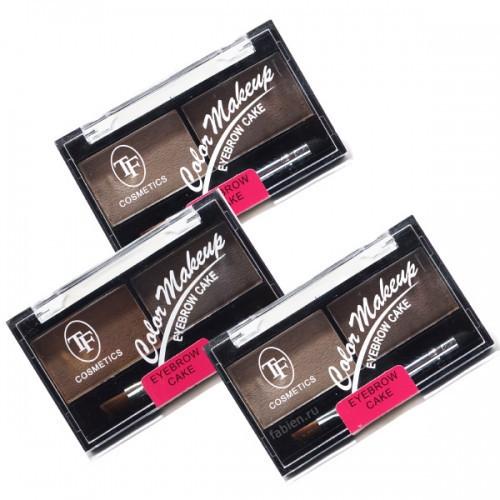 Набор для коррекции бровей TF Cosmetics Eyebrow Cake CEB-01 Тон  03 Коричнево-серая гамма