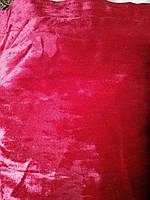 Меблева тканина велюр ширина 150 см колір червоний, фото 1