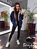 Тёплая короткая джинсовая куртка на меху с капюшоном, джинс, мех.  Размер:С,М. Разные цвета.(1262), фото 5
