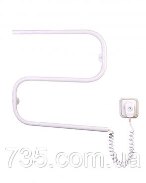 Полотенцесушитель Змейка-S с терморегулятором (белый), фото 2