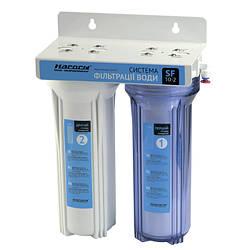 """""""Насосы+"""" система фильтрации воды двухступенчатая с краном SF 10-2"""