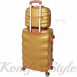 Комплект чемодан и кейс Bonro Next  средний золотой (10066802), фото 2