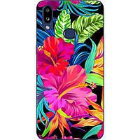 Чехол силиконовый с картинкой для Samsung A10s Galaxy A107F Яркие цветы