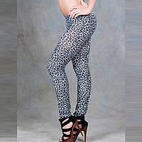 Леггинсы молодежные леопардовые
