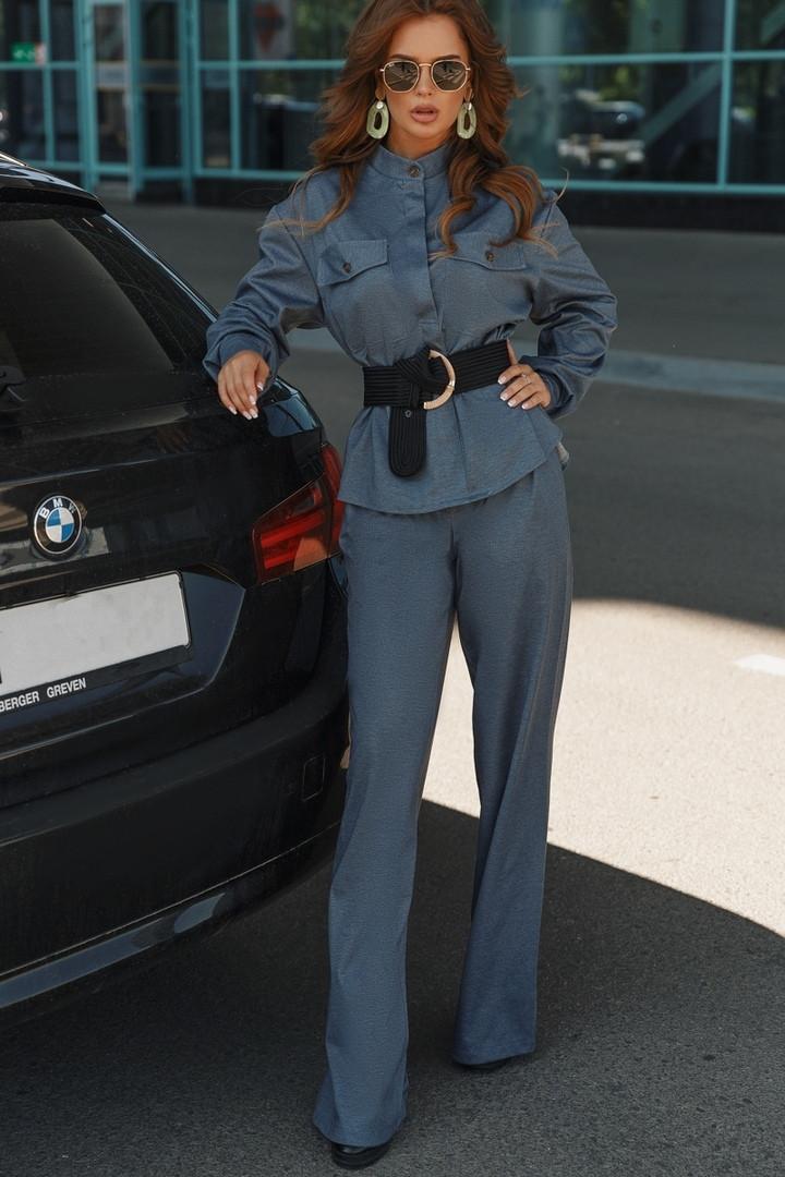 Женский брючный костюм пиджак и брюки трубы 42-44, 44-46