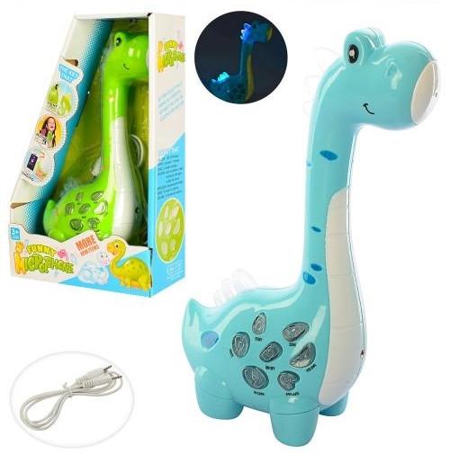 """Микрофон """"Динозавр"""", 23см, муз-зв(англ), свет, MP3, запись,"""