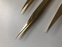 Пинцет прямой тонкий от «Vivienne», золотой, фото 1