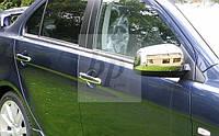 Хром накладки на зеркала (нерж) Mitsubishi lancer X (митсубиси лансер Х (10) 2007+