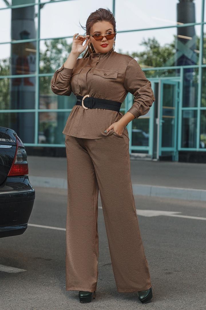 Женский брючный костюм пиджак и брюки трубы 48-50, 52-54, 56-58