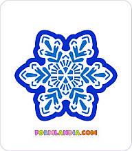 Трафарет + формочка-вырубка для пряников Снежинка №50