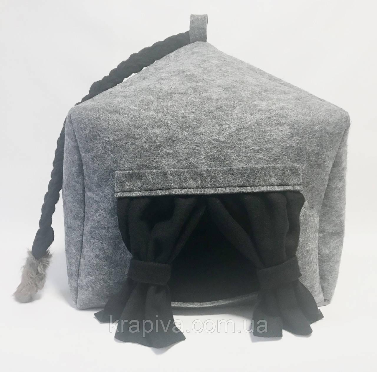 Домик лежанка со съемной подушкой для кота, собаки, дім для кота, лежак, спальне місце для кота