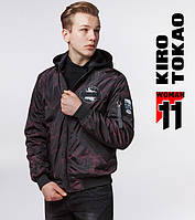 Мужская куртка бомбер Киро Токао - 3312 черный-красный