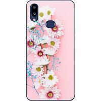 Чехол с картинкой силиконовый для Samsung A10s Galaxy A107F Цветы