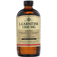 "L-карнитин в жидкой форме, SOLGAR ""L-Carnitine"" лимонный вкус, 1500 мг (473 мл)"