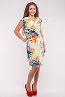 Летнее льняное платье большого размера №3