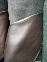 Кожзаменитель стрейч на замше для пошива верхней одежды мебели матовые ширина 145 см цвет темно-золотый, фото 1