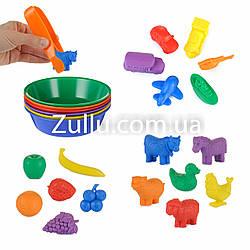 Набор для сортировки с тарелочками и фигурками EDX education - 18 фигурок
