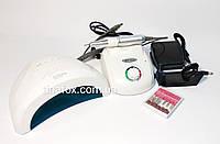 Стартовый набор для мастера маникюра фрезер Nail Drill Master +лампа SunOne 48Вт