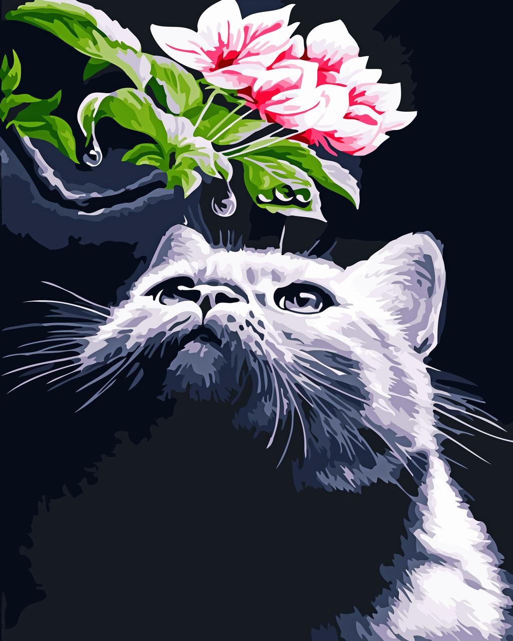 Художественный творческий набор, картина по номерам Кот и магнолия, 40x50 см, «Art Story» (AS0551)