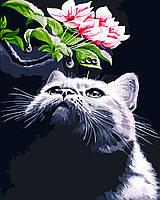 Художественный творческий набор, картина по номерам Кот и магнолия, 40x50 см, «Art Story» (AS0551), фото 1