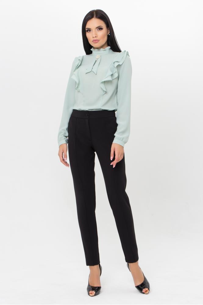 Женские черные классические однотонные брюки со стрелками