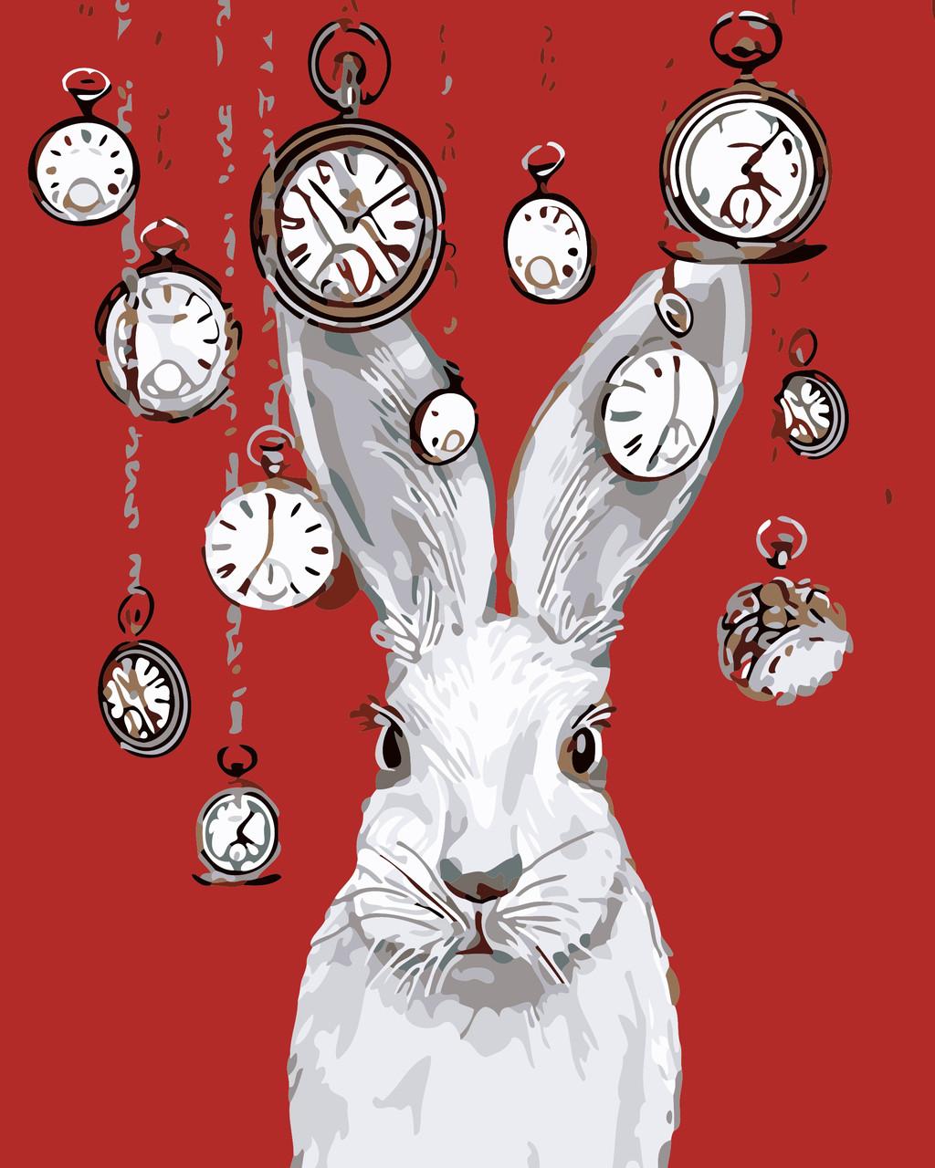 Художественный творческий набор, картина по номерам Кролик и часы, 40x50 см, «Art Story» (AS0552)