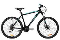 """Велосипед AL 26"""" Formula MOTION AM DD рама-19"""" черно-бирюзовый (м) 2020"""