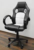 Комп'ютерне крісло офісне спортивне basic БІЛЕ Офисное компьютерное кресло спортивное Польша