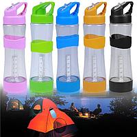 Бутылка для воды + ЛЭД фонарь 2 в 1 зарядка USB. Оптом и в розницу, фото 1