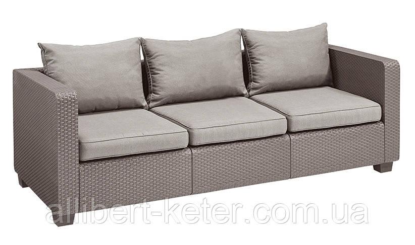 Набор садовой мебели Salta 3-Seater Sofa из искусственного ротанга ( Allibert by Keter )