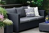 Набор садовой мебели Salta 3-Seater Sofa из искусственного ротанга ( Allibert by Keter ), фото 6